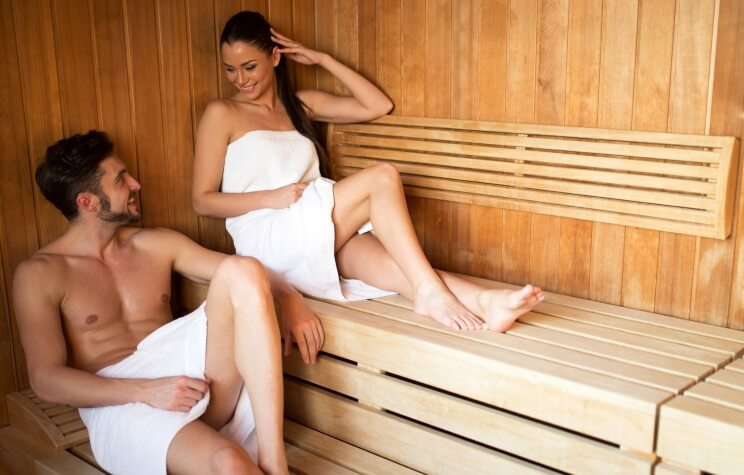 Infrared sauna improves skin tone